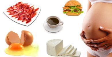 Alimentos prohibidos en el embarazo