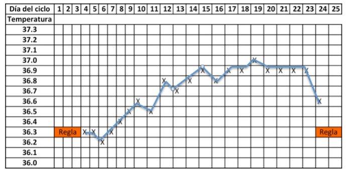 Gráfico temperatura basal