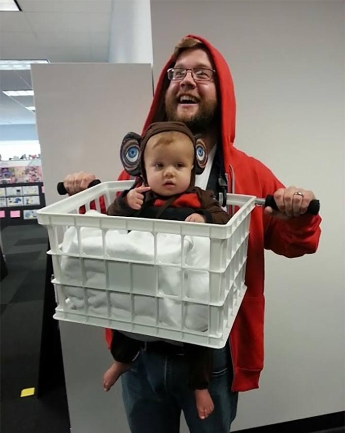 Disfraz ET bebe y padre