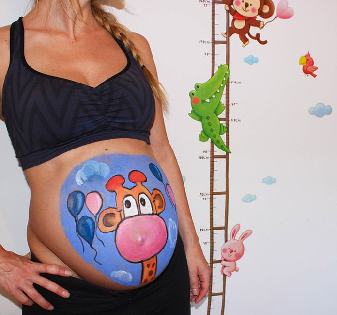 jirafa-bellypainting-embarazada
