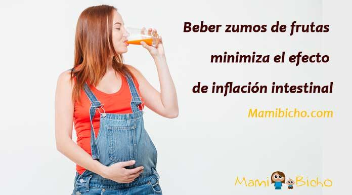 Beber zumos embarazo reduce inflamación