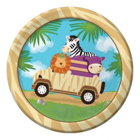 Platos Safari cumpleaños
